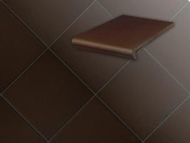 Плитка для ступеней 210 braun