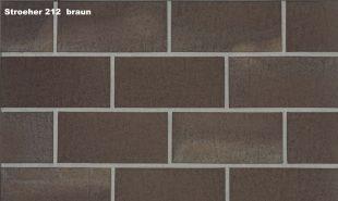 Плитка для гаража и дорожек Stroeher 212 braun