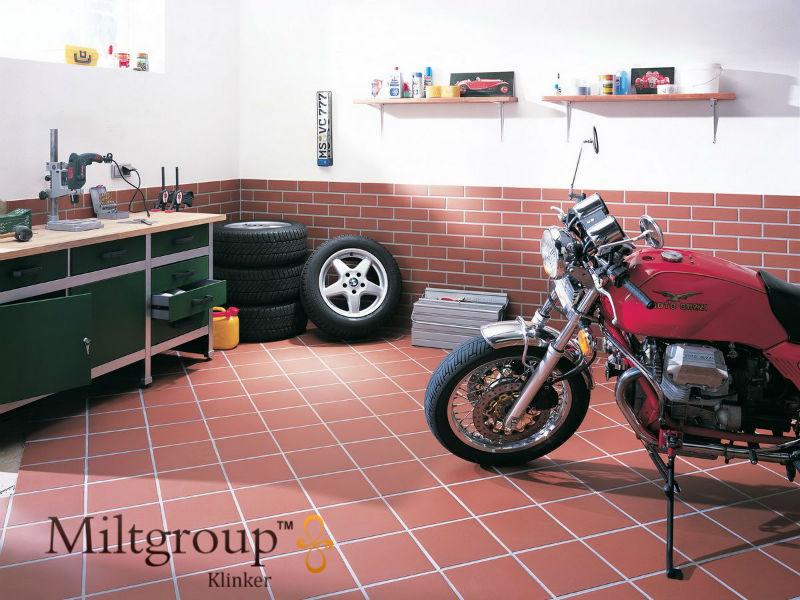 Клинкерная напольная плитка для гаража